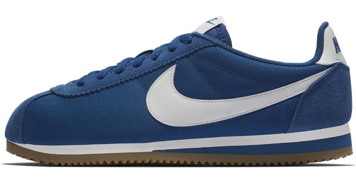 77d6577a6997 Lyst - Nike Classic Cortez Nylon Shoe in Blue for Men