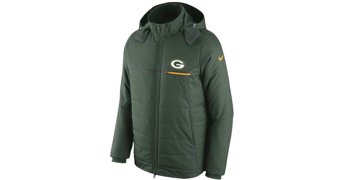 quality design 12f5b 07670 Nike - Green Sideline (nfl Packers) Men's Jacket for Men - Lyst