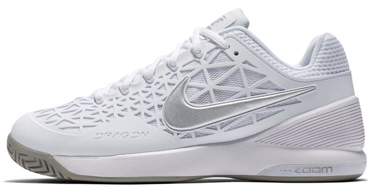 c4cf634f8f89 Lyst - Nike Court Zoom Cage 2 Women s Tennis Shoe in White