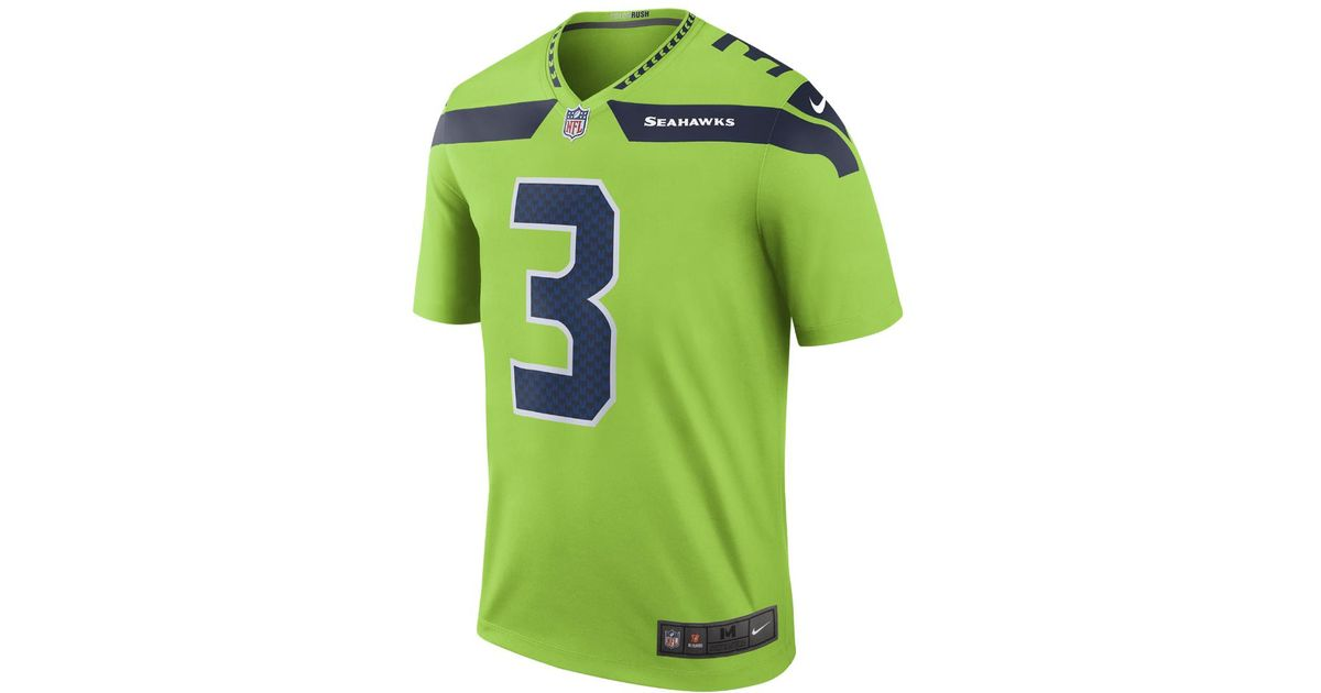 the latest 20954 e204d Nike Green Nfl Seattle Seahawks Color Rush Limited (russell Wilson) Men's  Football Jersey for men