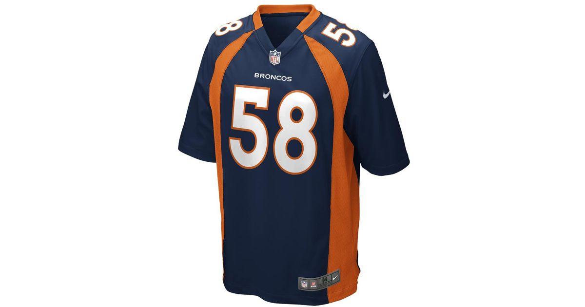 a0209fca Nike - Blue Nfl Denver Broncos (von Miller) Game Football Jersey for Men -  Lyst
