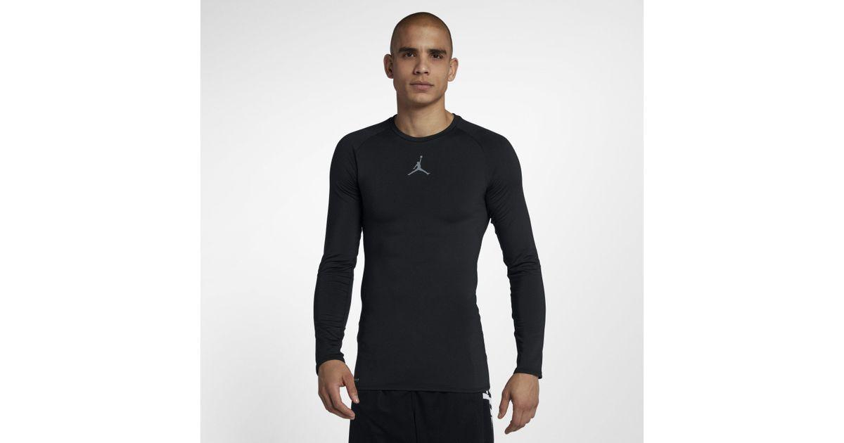 977cc323 Nike Jordan 23 Alpha Long-sleeve Basketball Top in Black for Men - Lyst