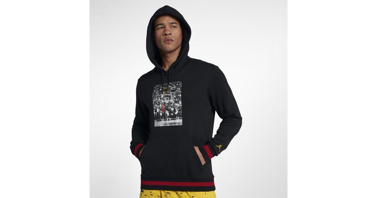b2e701839c4 Nike Sportswear Last Shot Wings Lite Men's Pullover Hoodie, By Nike in  Black for Men - Lyst