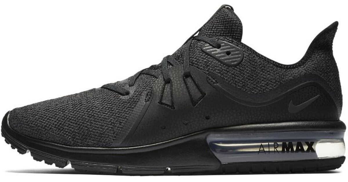 633e3cb40e ... new zealand lyst nike air max sequent 3 mens running shoe in black for  men 888de