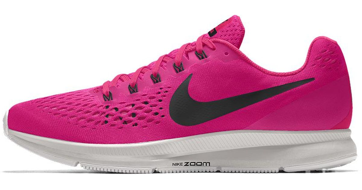 d1f6630159b0 Lyst - Nike Air Zoom Pegasus 34 Id Women s Running Shoe in Pink