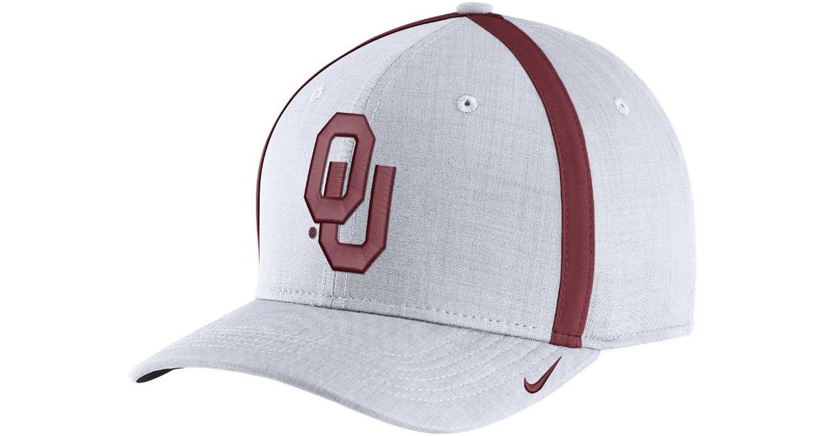 f6f0da4bbfc Lyst - Nike College Aerobill Sideline Coaches (oklahoma) Adjustable Hat ( white) in White for Men