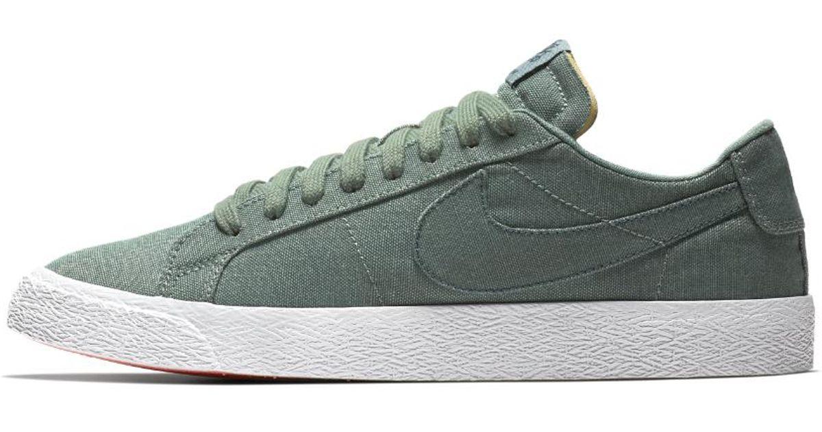 927065d4f066 Lyst - Nike Sb Zoom Blazer Low Canvas Deconstructed Men s Skateboarding Shoe  in Green for Men - Save 13%