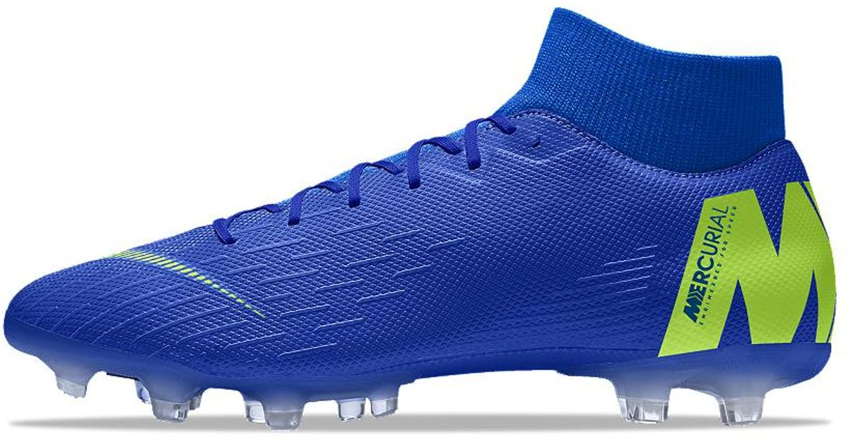 Lyst - Nike Mercurial Superfly Vi Academy Mg Id Multi-ground Soccer Cleats  in Blue for Men 408611cc1