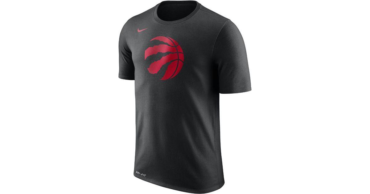 9ecbe1c3536 Lyst - Nike Toronto Raptors Dry Logo Men s Nba T-shirt in Black for Men