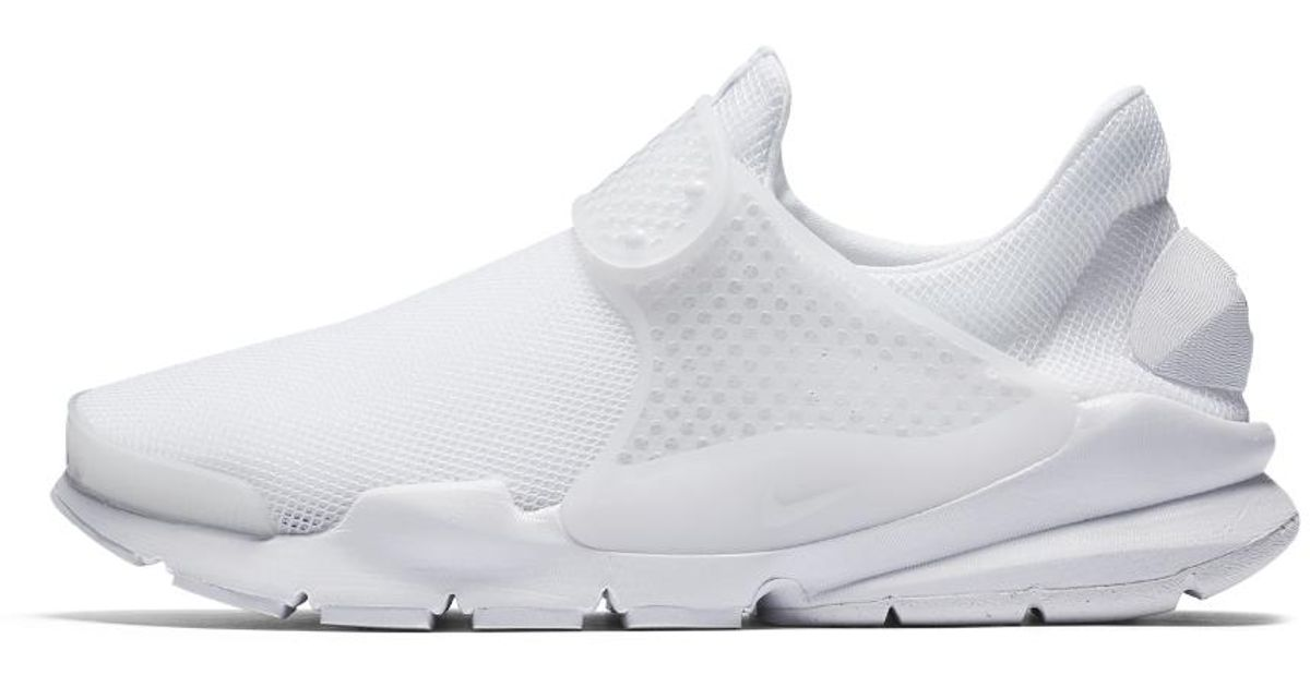meet 765e2 70dc0 ... order lyst nike sock dart breathe womens shoe in white 895ac a1d9c