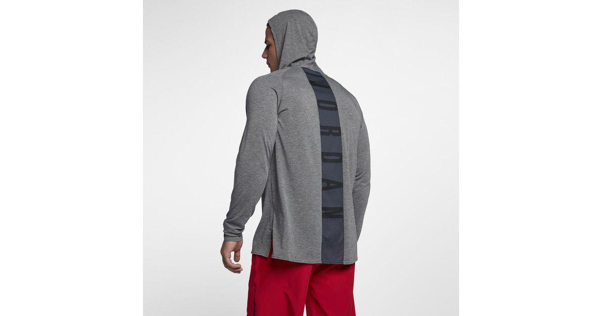 4d3f71b5 Nike Nike Dri-fit 23 Alpha Hooded Men's Long Sleeve Basketball Top in Gray  for Men - Lyst