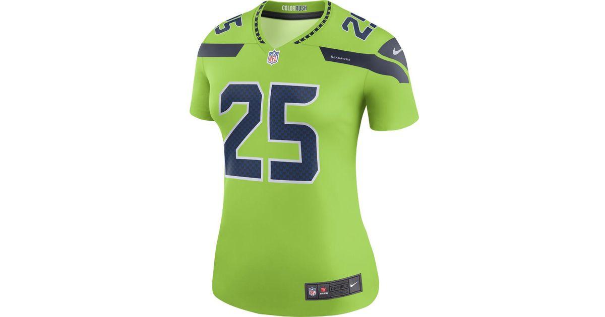 247d4306 Lyst - Nike Richard Sherman Seattle Seahawks Color Rush Legend Jersey in  Green