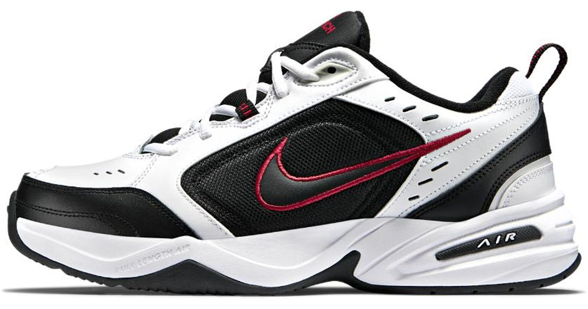 lyst nike air monarch iv (extra wide) mens training shoe in black for men