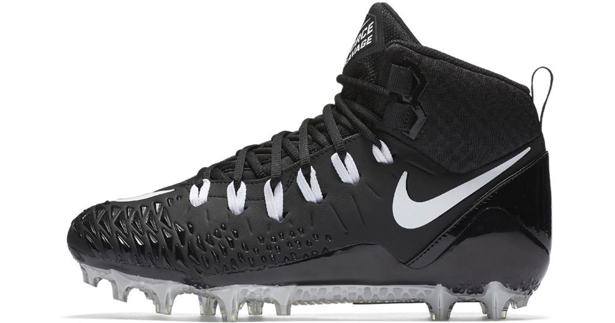 new concept 77146 fd2d1 Nike Force Savage Pro Men s Football Cleat in Black for Men - Lyst