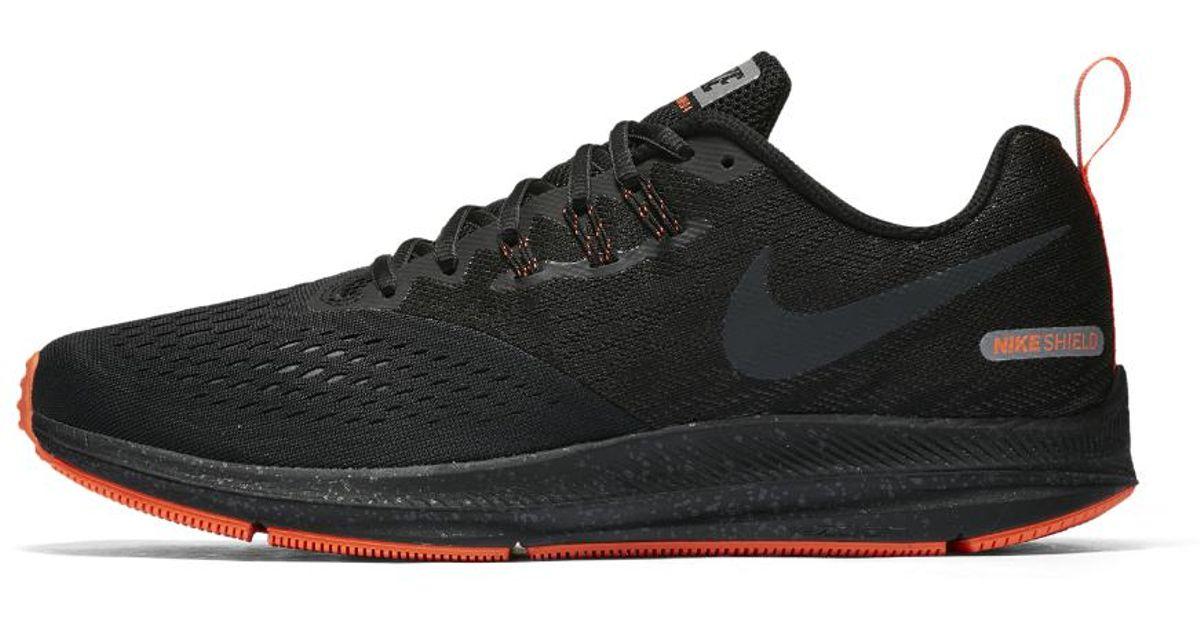 6c13ff68fdf4 Lyst - Nike Air Zoom Winflo 4 Shield Men s Running Shoe in Black for Men