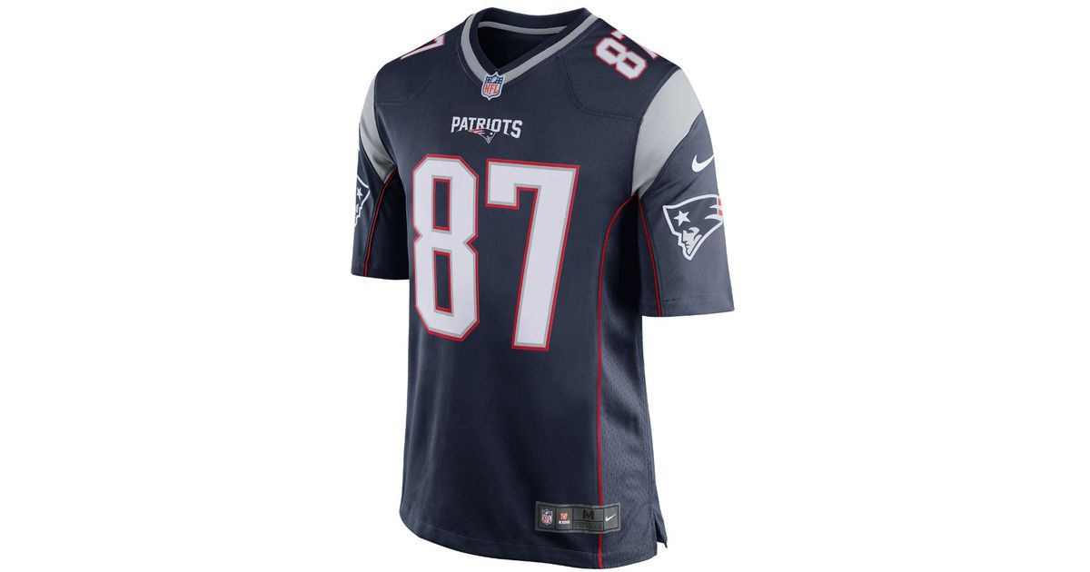 bcfa29a7b14 ... rob gronkowski home jersey Lyst - Nike Nfl New England Patriots ...