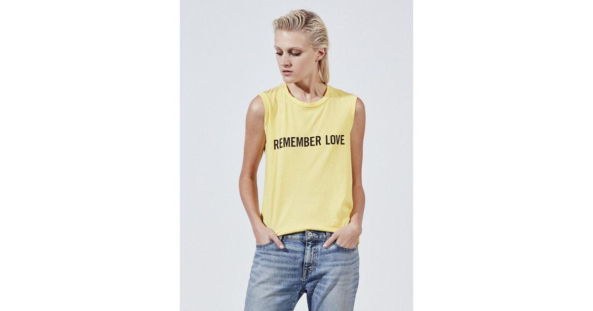 695a3848 Nili Lotan Remember Love Muscle Tee (final Sale) in Yellow - Lyst