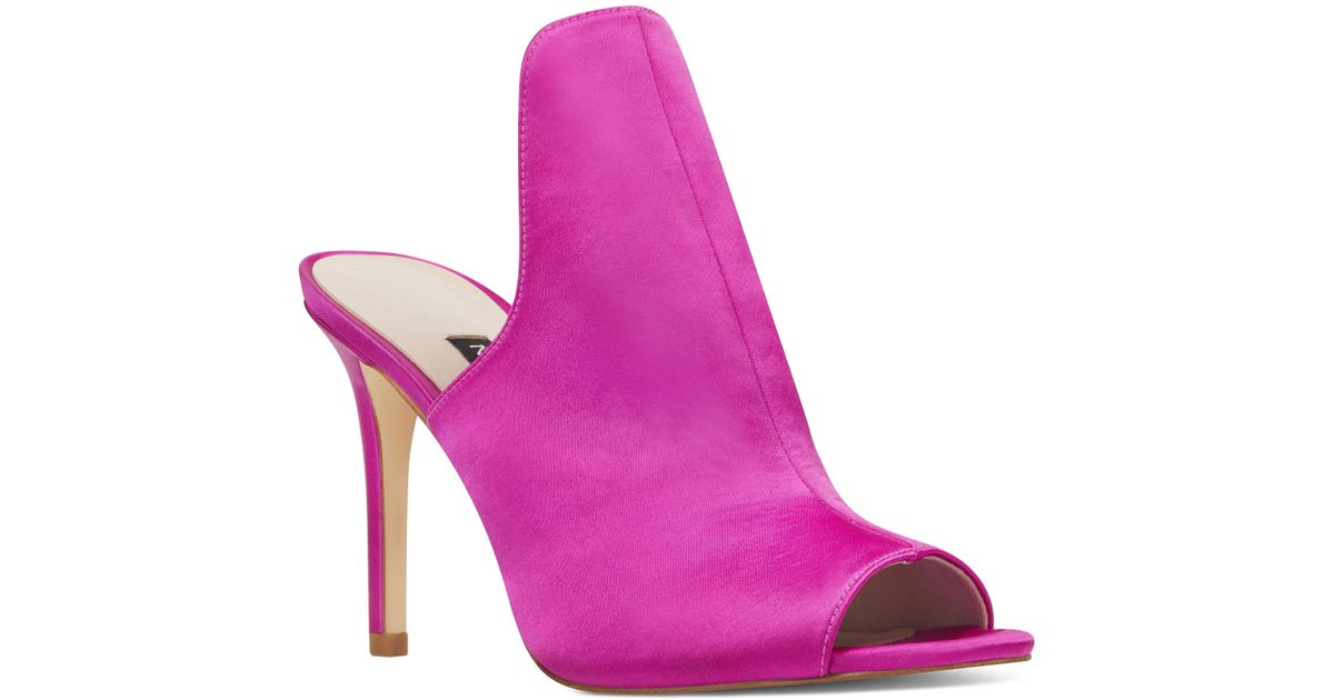 276cf1fa75 Nine West Magdor Open Toe Mules in Pink - Lyst