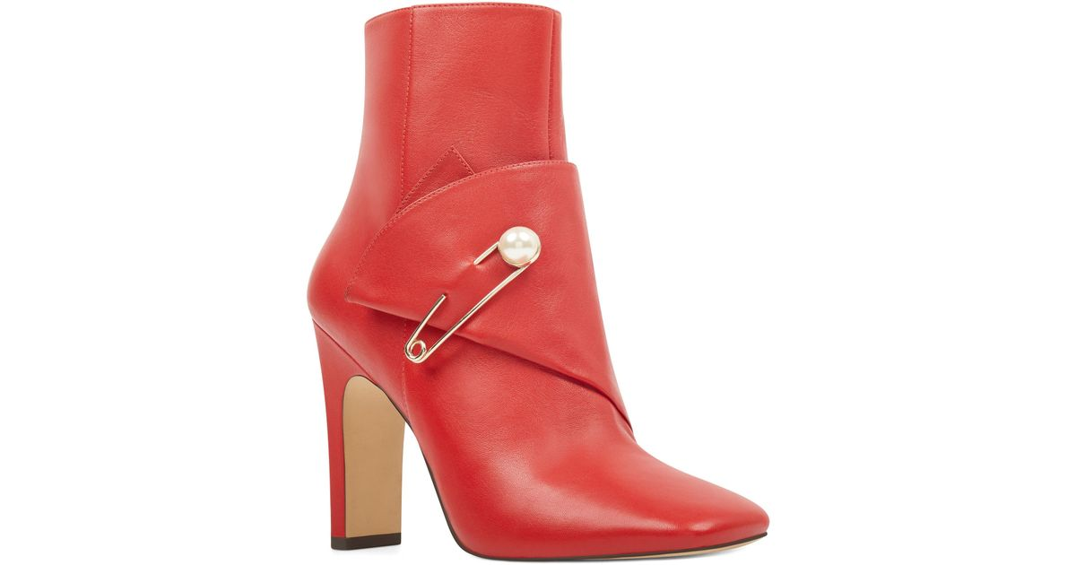 e0a6416734d Nine West Red Leather Boots - Image Collections Boot