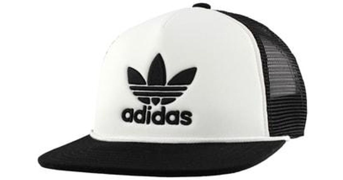 6fdbd005 adidas Originals Trefoil Trucker Hat - in Black for Men - Lyst
