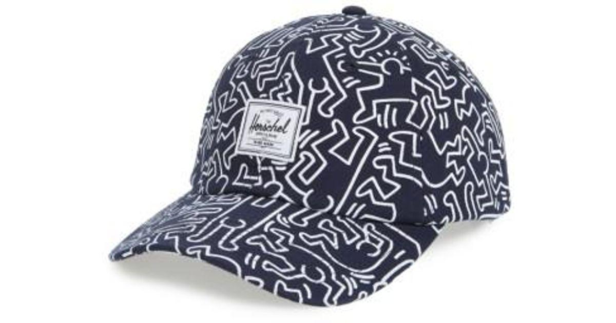 91fb5e85b05 Lyst - Herschel Supply Co. Sylas Keith Haring Baseball Cap in Blue ...