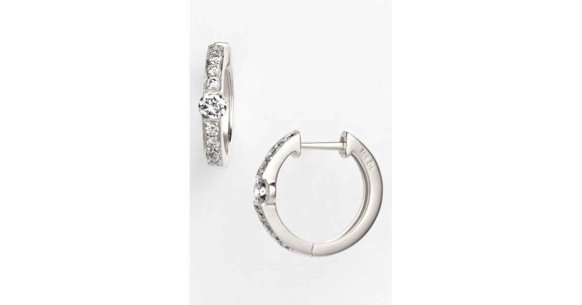 Lyst Bony levy linea Small Diamond Hoop Earrings nordstrom