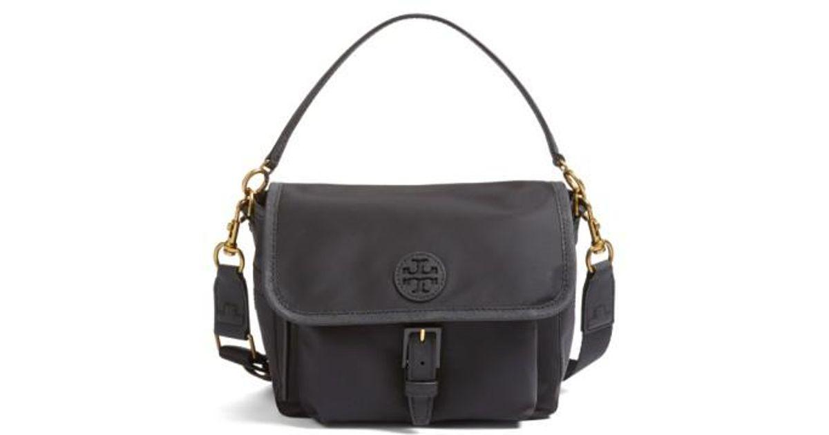 81c0a7d01107d Lyst - Tory Burch Scout Nylon Crossbody Bag in Black