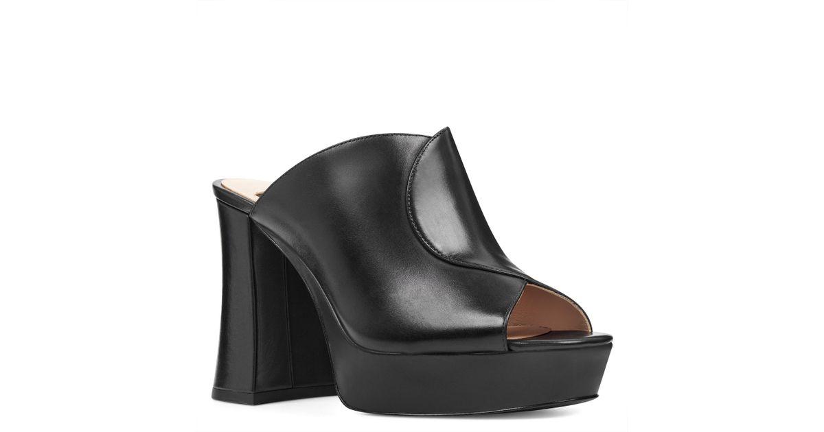 02b707265cee Lyst - Nine West Lisana 40th Anniversary Platform Slide Heel in Black