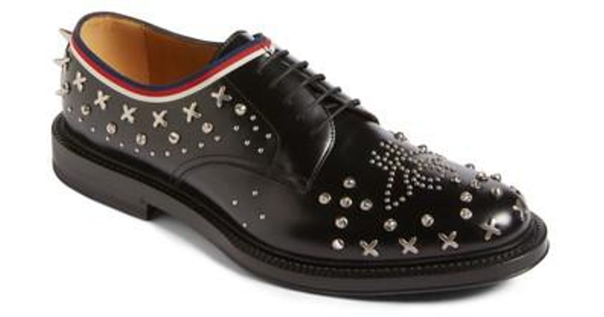 Star studded Gucci Derby shoes