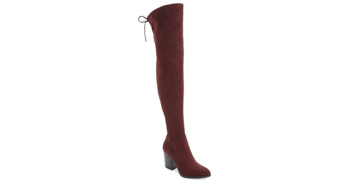 8320f28db42 Lyst - Marc Fisher Adora Over The Knee Boot in Red