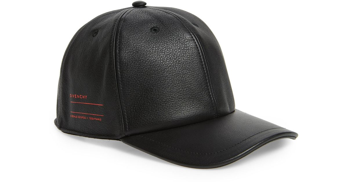 Givenchy Leather Ball Cap - in Black for Men - Lyst 6636b075e290