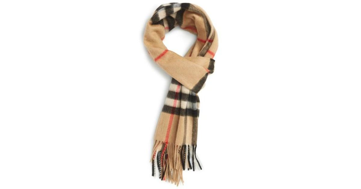 91f86bbc89f16 ... discount code for lyst burberry heritage check cashmere scarf for men  718b1 11823