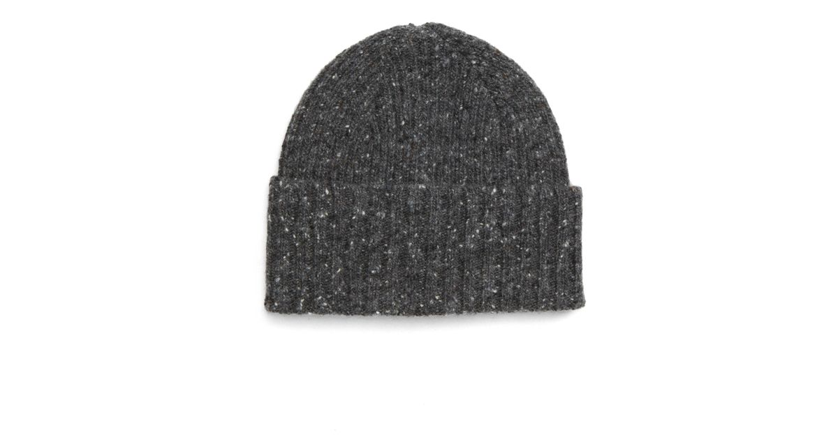 Lyst - Drake s Drakes Donegal Wool Beanie in Gray for Men 65d526ede11