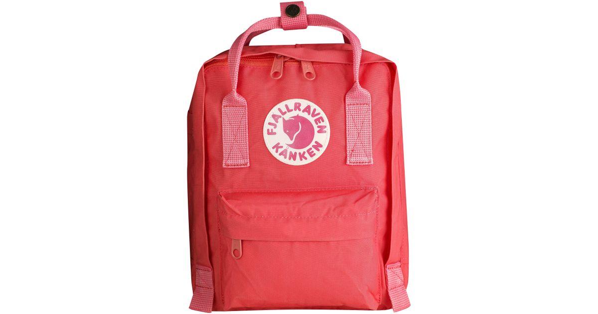 Lyst - Fjallraven  mini Kanken  Water Resistant Backpack in Pink - Save  41.42857142857143% 8871b8432f