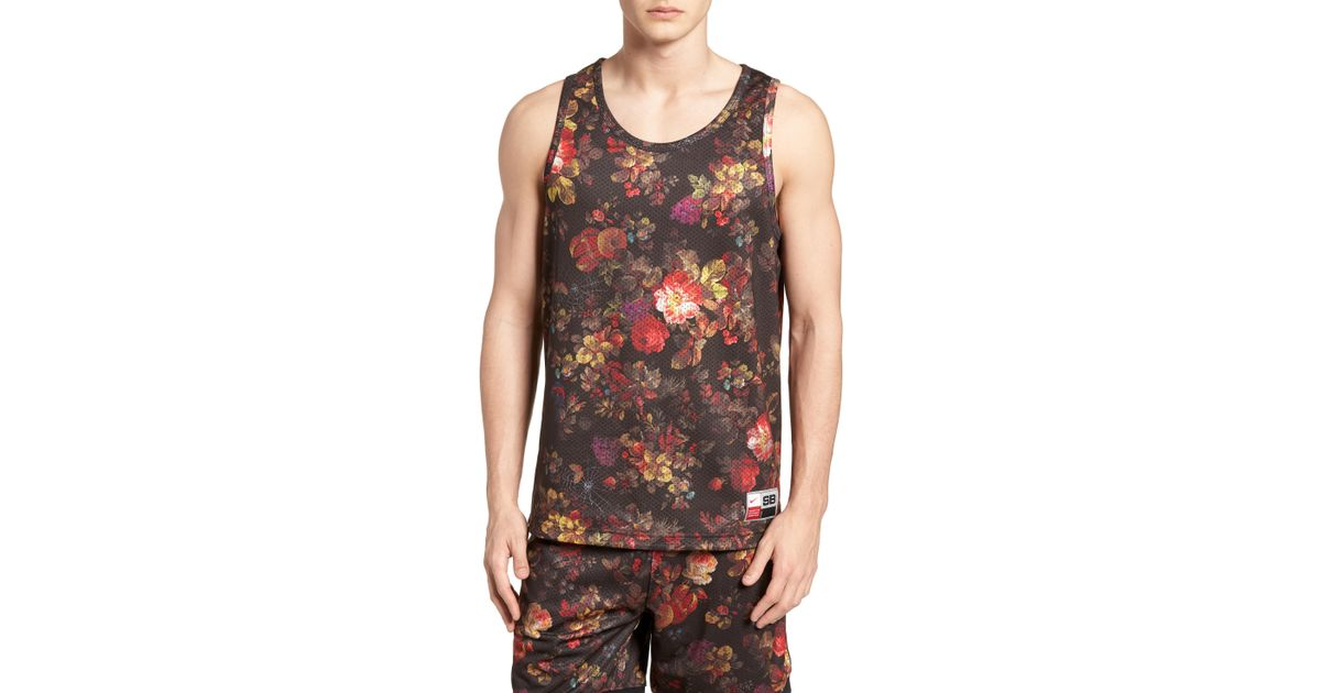 21ad6aa5 Nike Nike Dry Reversible Floral Mesh Tank for Men - Lyst