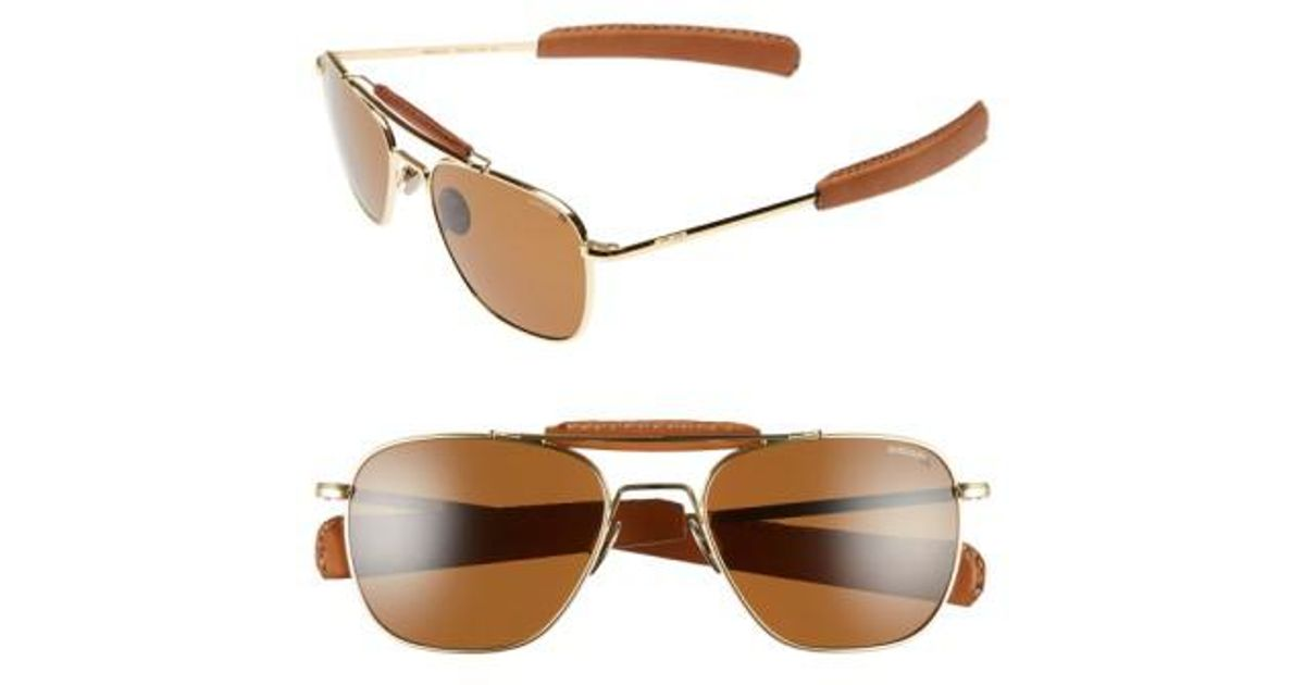 28ee002647 Lyst - Randolph Engineering  aviator Ii  Polarized 55mm Sunglasses - 23k  Gold  Tan in Metallic for Men