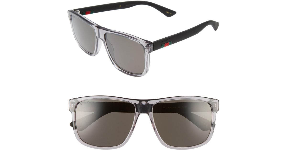 c1a2f316d31 Lyst - Gucci 58mm Polarized Sunglasses - Transparent Grey W  Grey Plr in  Gray for Men