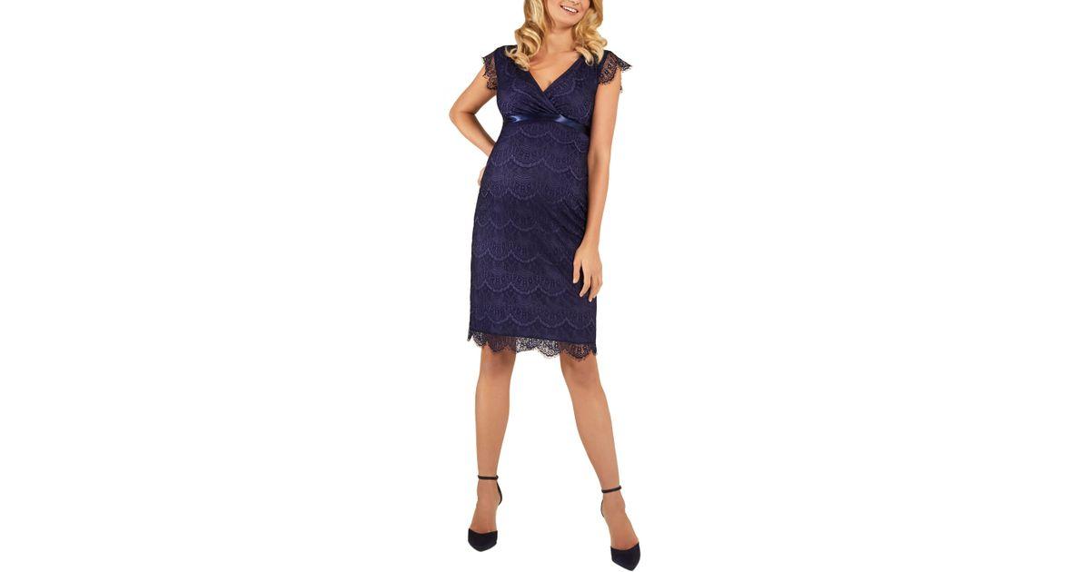 4d74dde4512cb Lyst - TIFFANY ROSE Imogen Maternity Dress in Blue
