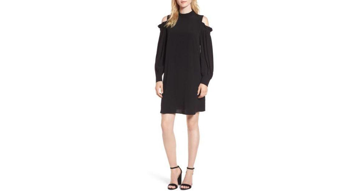 56716ae49193 Lyst - Chelsea28 Cold Shoulder Shift Dress in Black