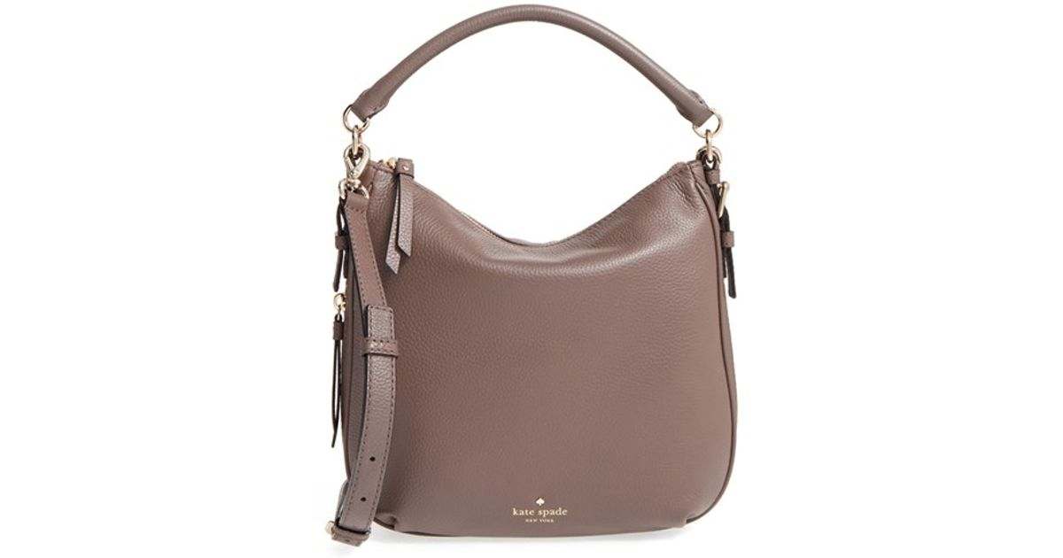 f614f62df Lyst - Kate Spade  cobble Hill - Small Ella  Leather Satchel in Gray