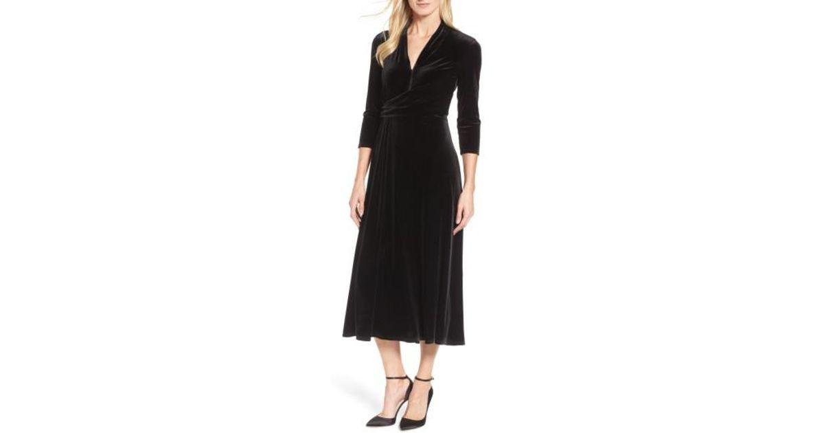 Velvet Tea Length Dresses
