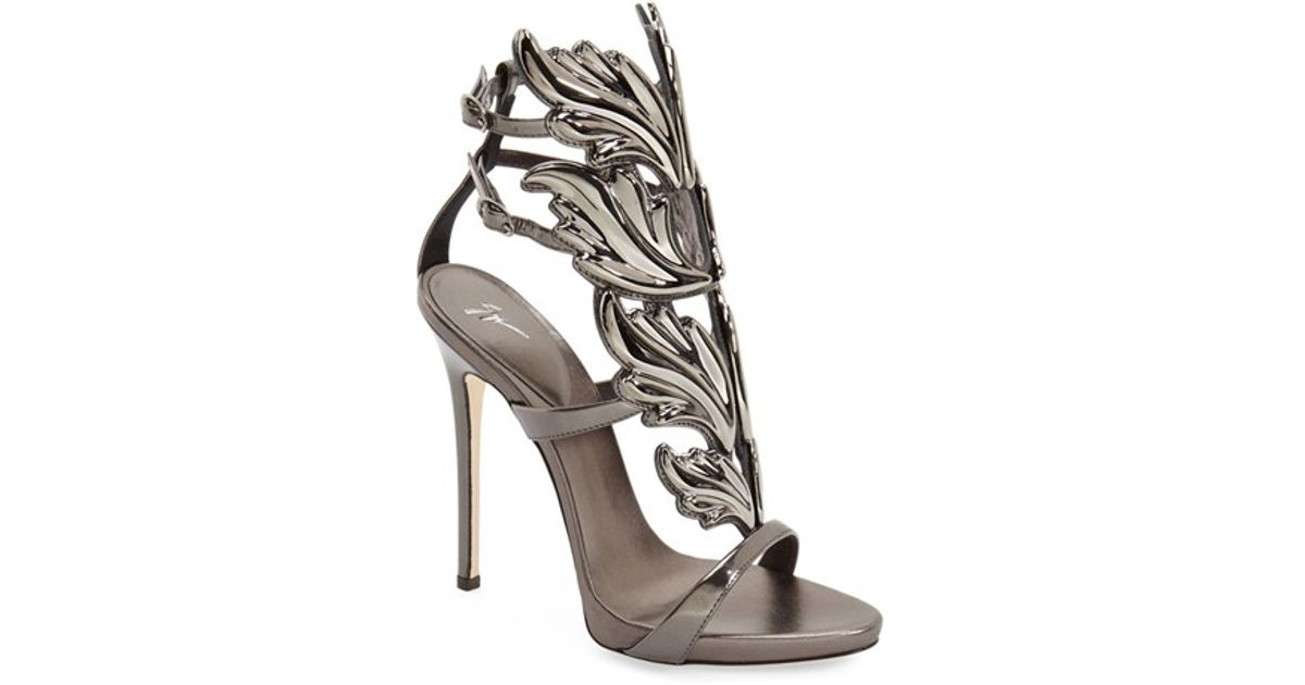 ab00b2354 Giuseppe Zanotti Cruel Silver Wing Sandals in Metallic - Lyst