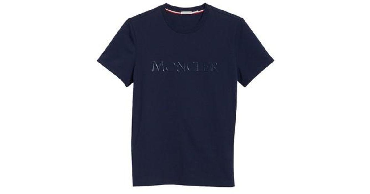 9927cd55ecbd Lyst - Moncler Maglia Print T-shirt in Blue for Men