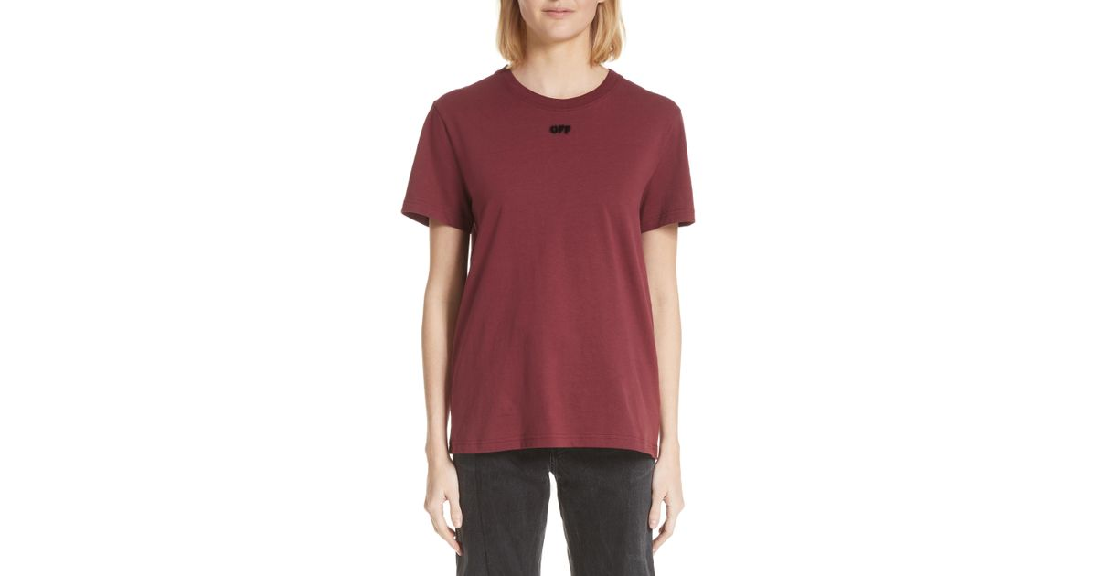 a90eebbe885f Lyst - Off-White c o Virgil Abloh Arrow Casual Tee in Red