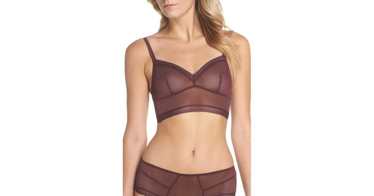 f5ebc4c551 Lyst - Samantha Chang Jet Set Our Favorite Longline Bralette in Purple