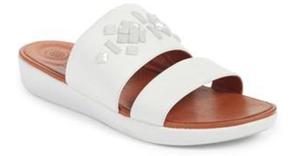 29745f7a76d537 Lyst - Fitflop Delta Slide Sandal in White