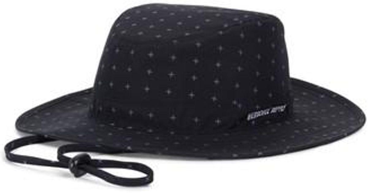 6029dbb894913 ... best lyst herschel supply co. creek gore tex bucket hat in black for  men a7992