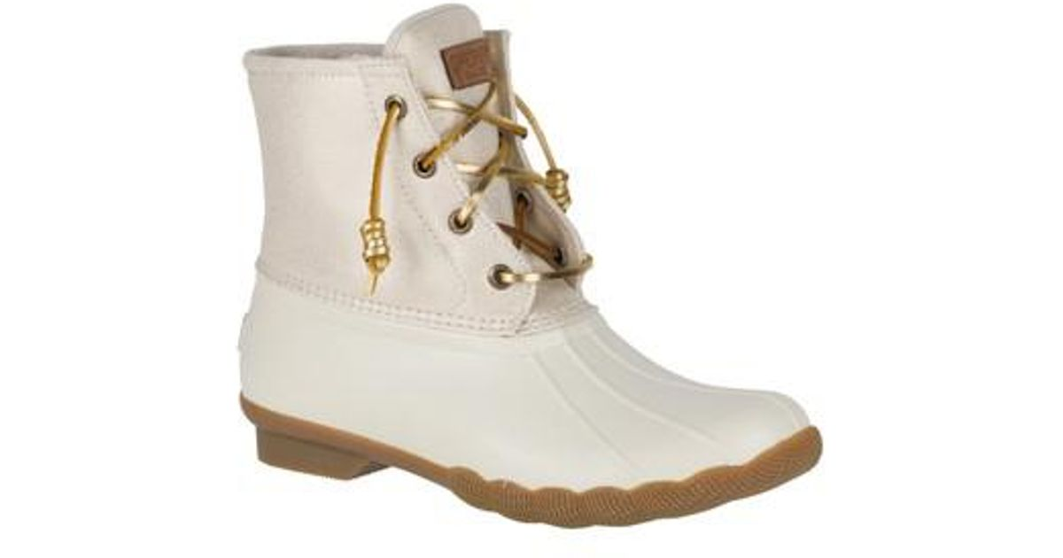 Lyst Sperry Top Sider Saltwater Duck Boot In Metallic
