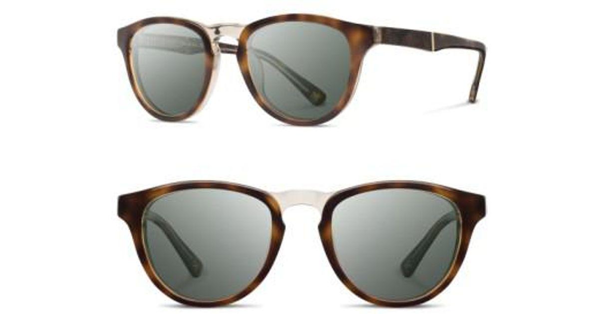 31ae7405fad Lyst - Shwood  francis  49mm Polarized Sunglasses - Elm Burl   G15