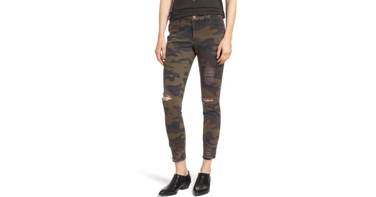 fd80d0b370ac2d Lyst - Tinsel Ripped Camouflage Skinny Jeans